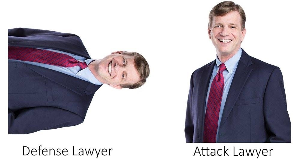 I summon my lawyer in Attack position - meme