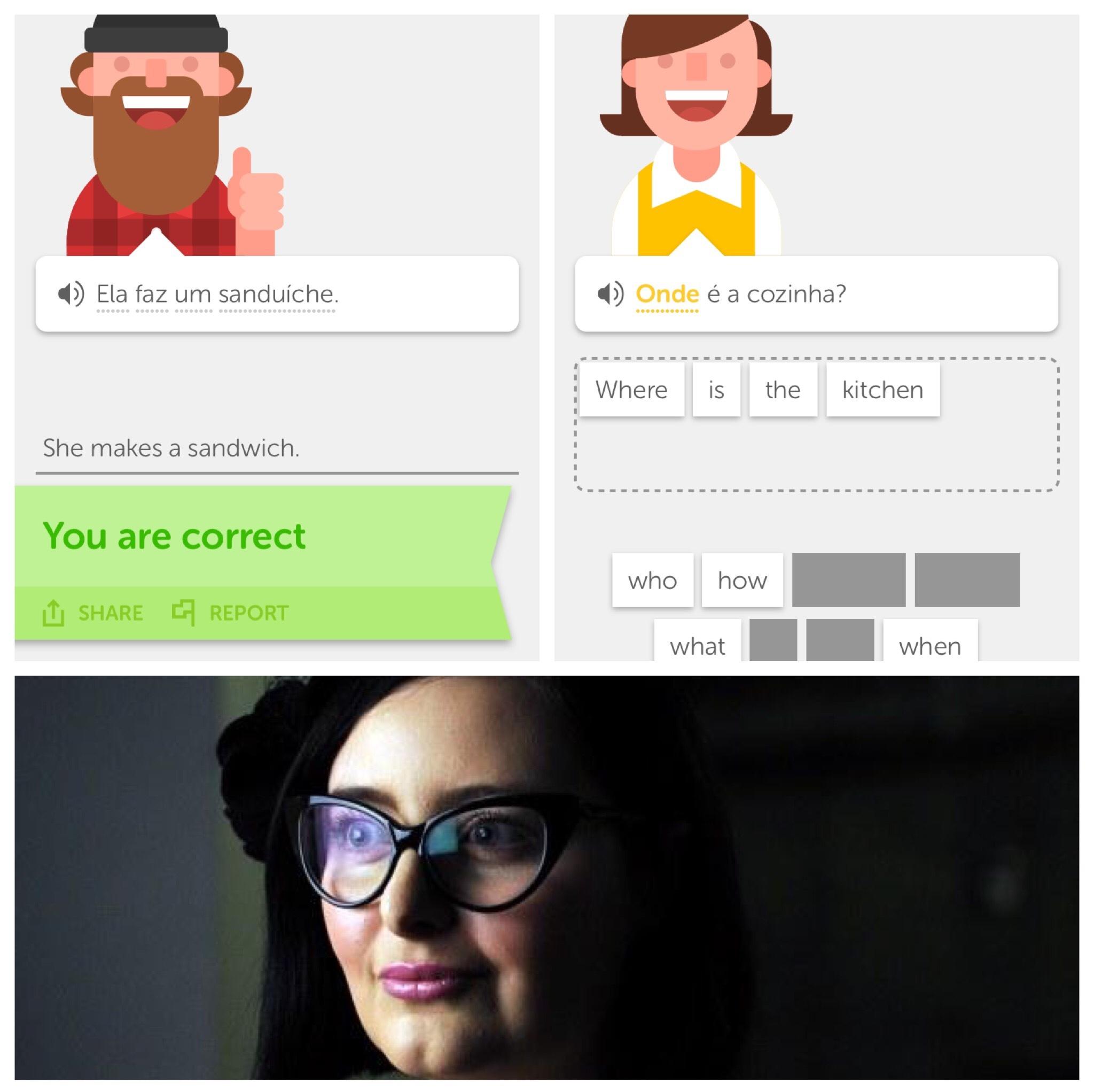 Feminazis using Duolingo like... - meme
