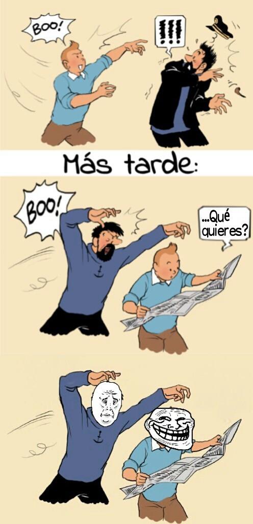 Tintin troll - meme