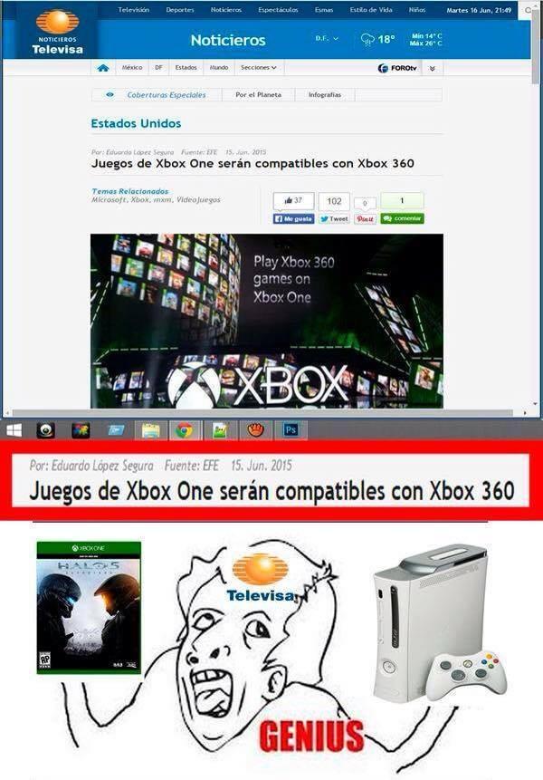 Televisa y su inteligencia - meme
