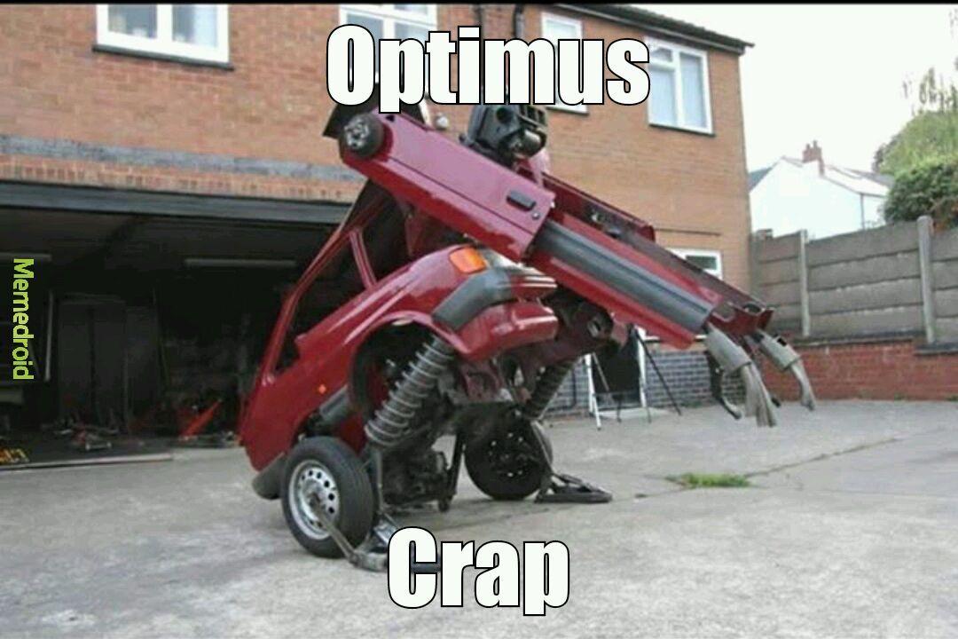 Crapformers unite - meme