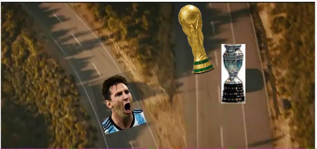 Messi y las copas - meme