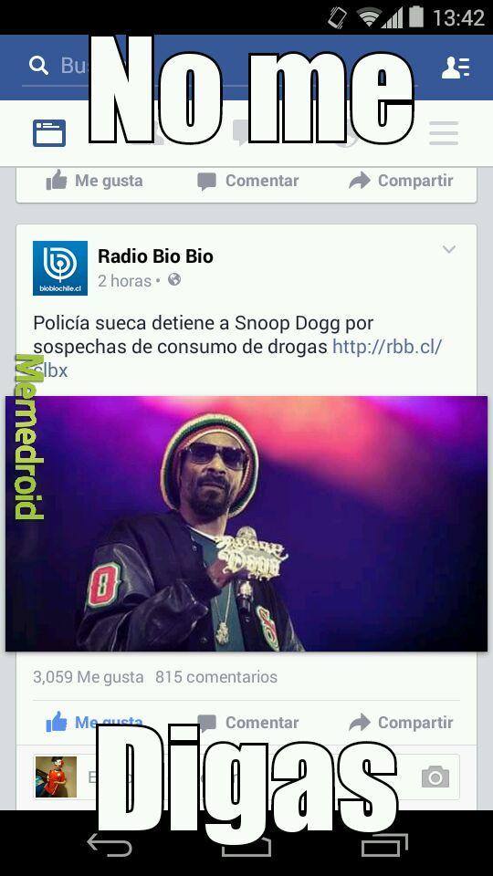Snoop consumiendo drogas? Nadie lo sabia - meme