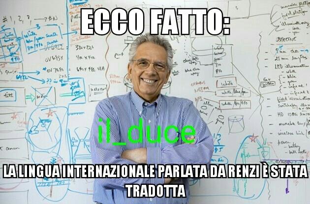 Cito tutti quelli che hanno capito che Renzi è un pagliat - meme