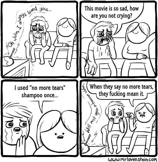 no more tears shampoo is effective - meme