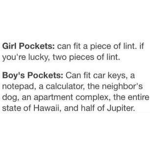 I hate my pockets -.- - meme