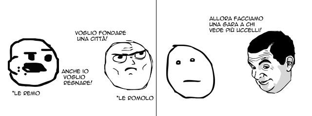 Ecco come è stata fondata Roma - meme