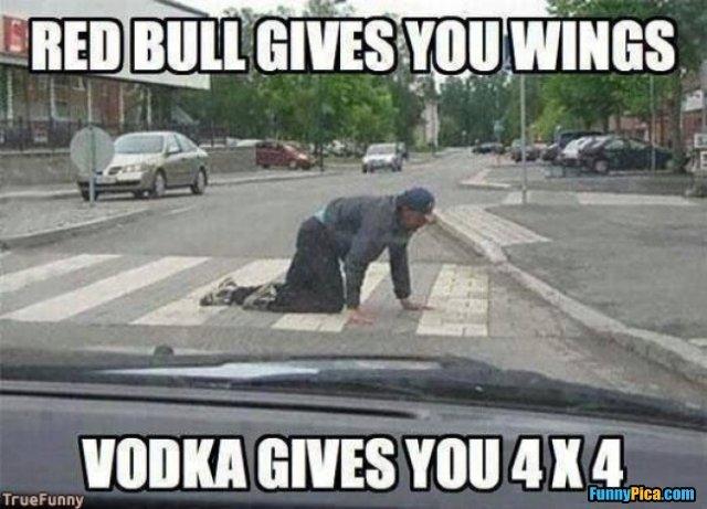 Redbull, Vodka, and Pain killers...Mmm - meme