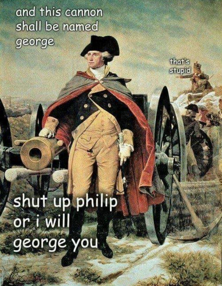 George at it again - meme