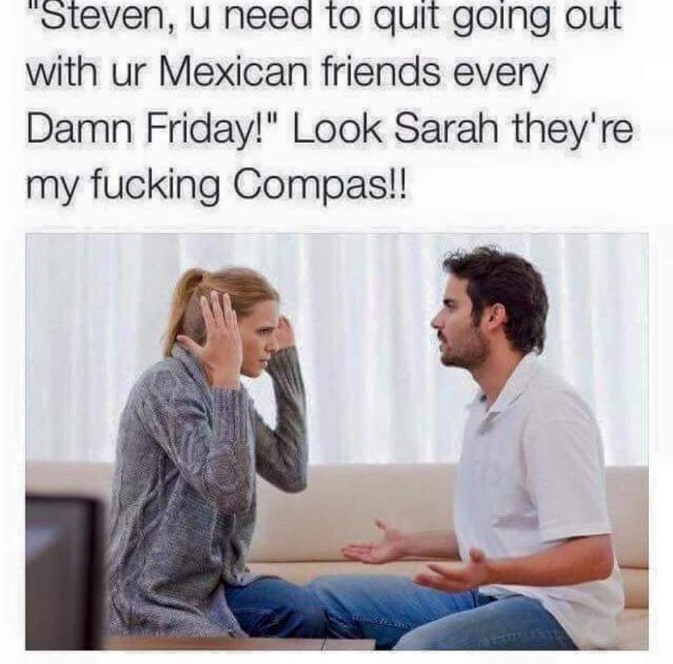 My fucking compas - meme