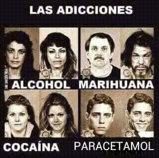 El titulo es adicto al paracetamol - meme