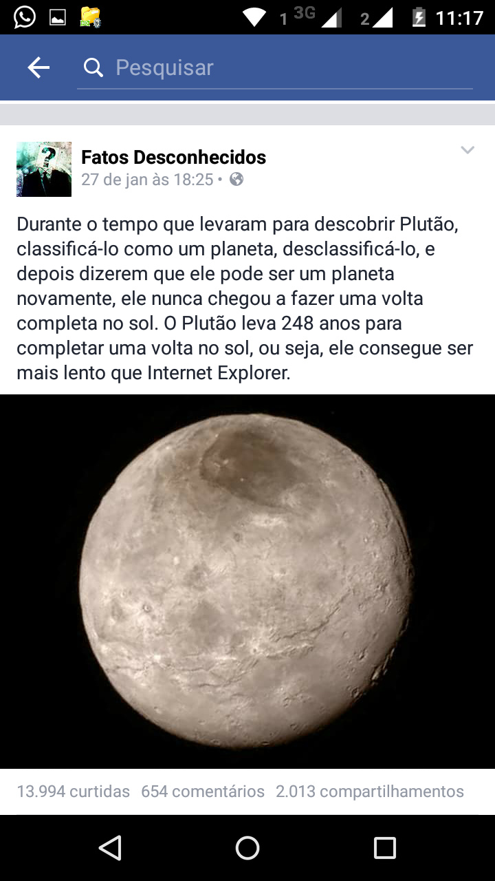 Plutão explorer - meme