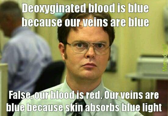 Blue, or red blood - meme