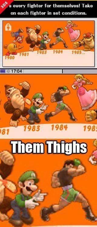 You gotta admit, he's got some impressive thighs. - meme