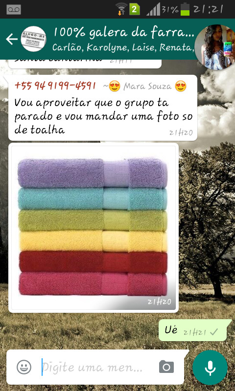 Só de toalha - meme