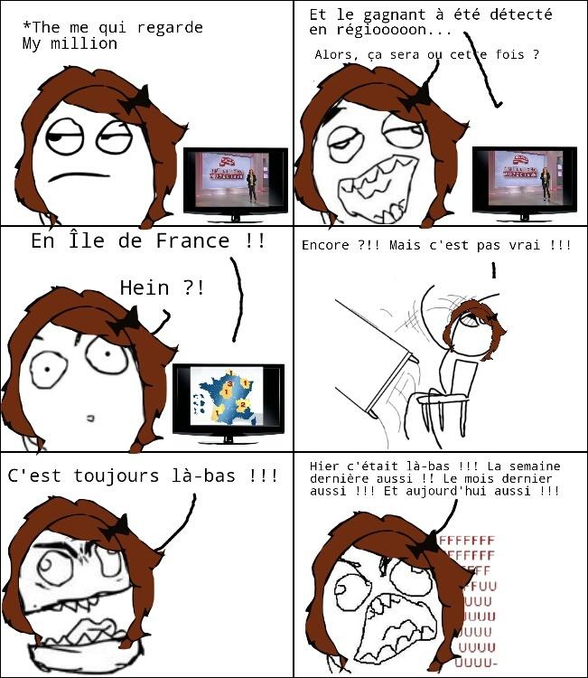 My million + Île de France = ❤ pour toujours - meme