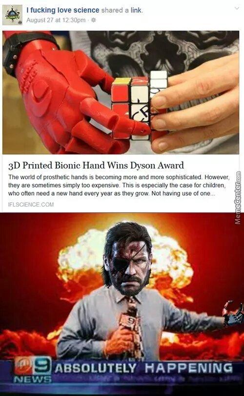 3d bionic hand - meme