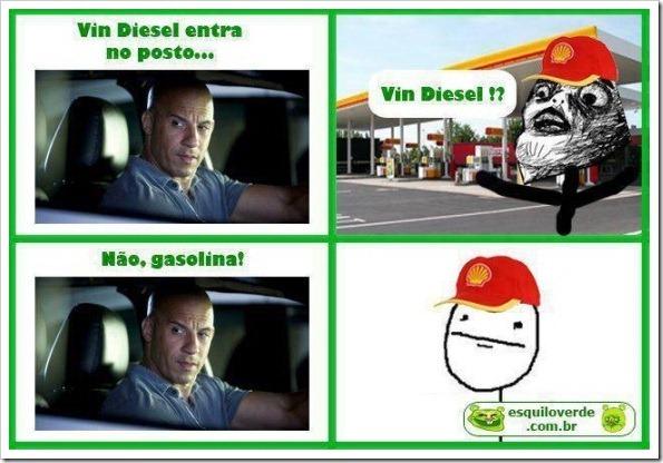 É a gasolina pro filme - meme