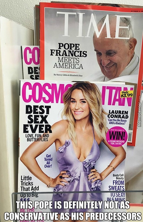 God dammit, Pope Francis! - meme
