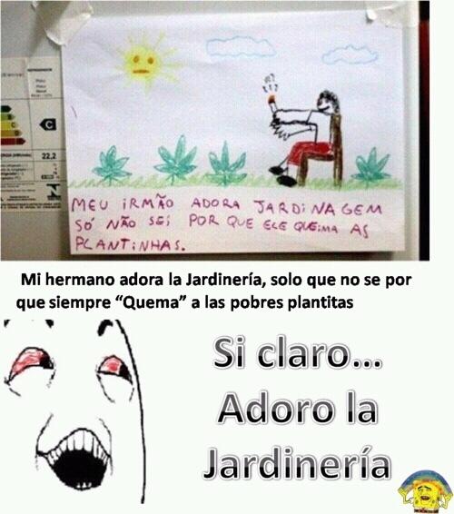 Jardinería - meme