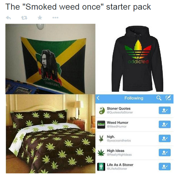 Smoked weed once starter pack redefined - meme