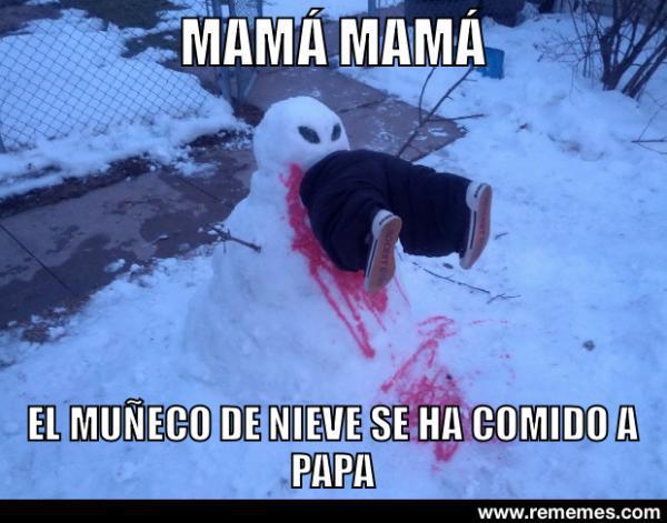 Muñeco de nieve asesino - meme
