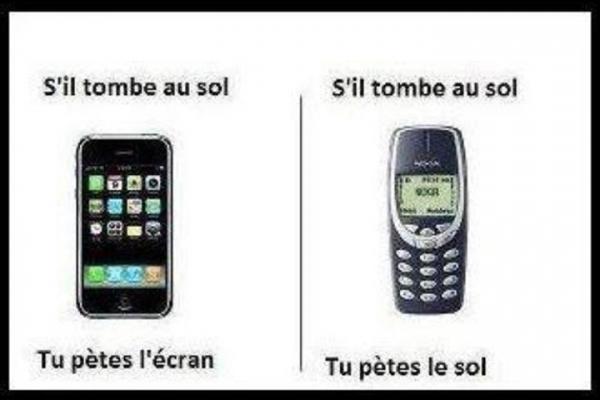 Iphone vs nokia - meme