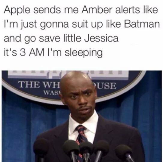 Amber alerts - meme