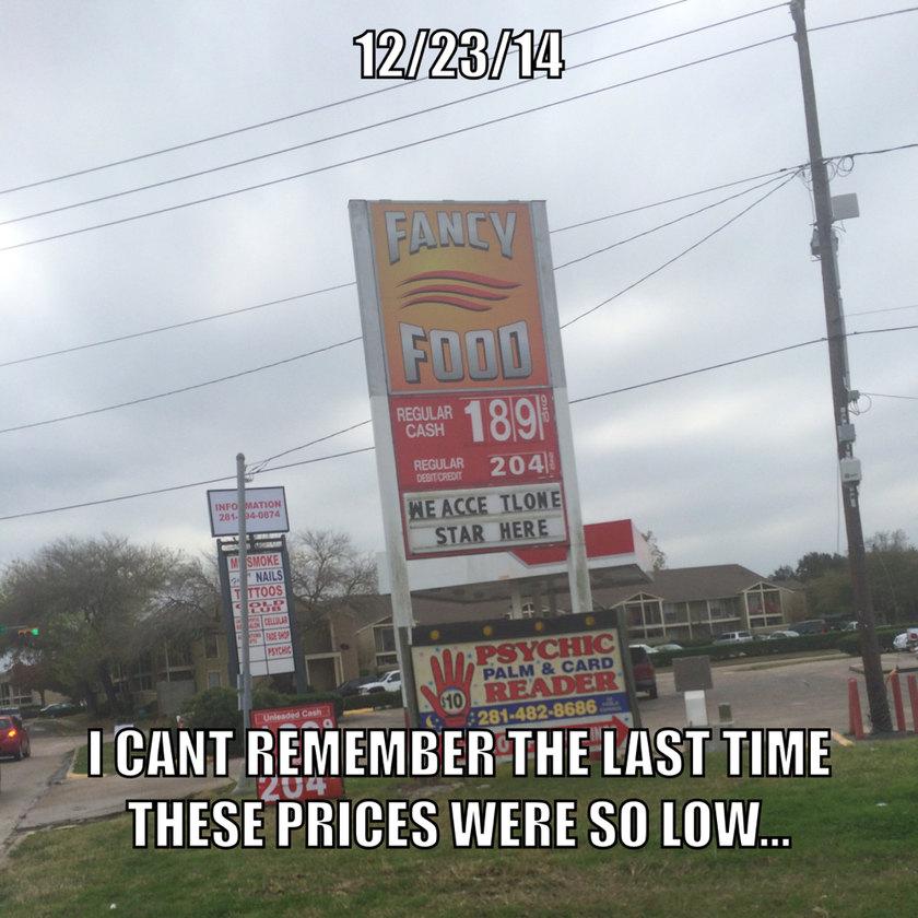 Amazing gas prices!! - meme