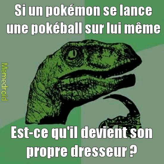 Deviné mon pokémon ? C'est moi ! #deretour - meme