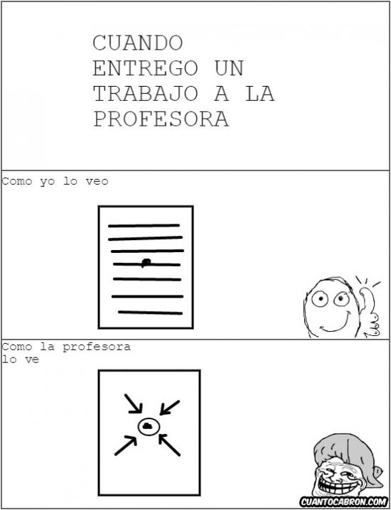 Profesora troll - meme