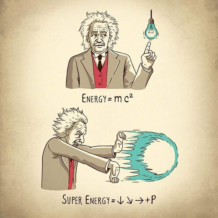 Tutoria de como fazer um hadouken, segundo Einstein - meme