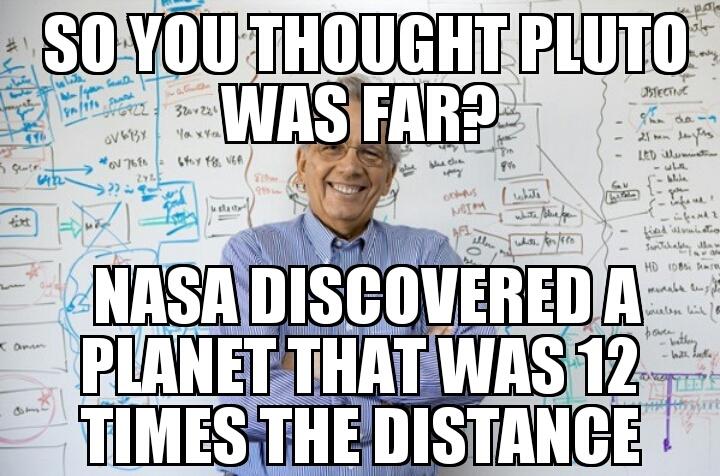 Pluto vs Kepler - meme