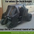 for when the dark night plays golf