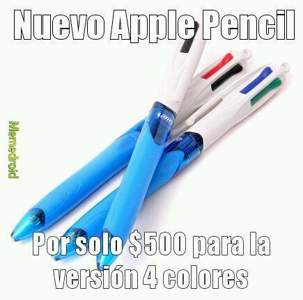 Nuevo Apple Pencil - meme