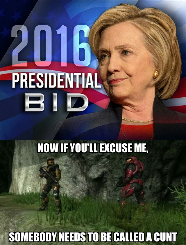 Red vs blue vs Clinton - meme