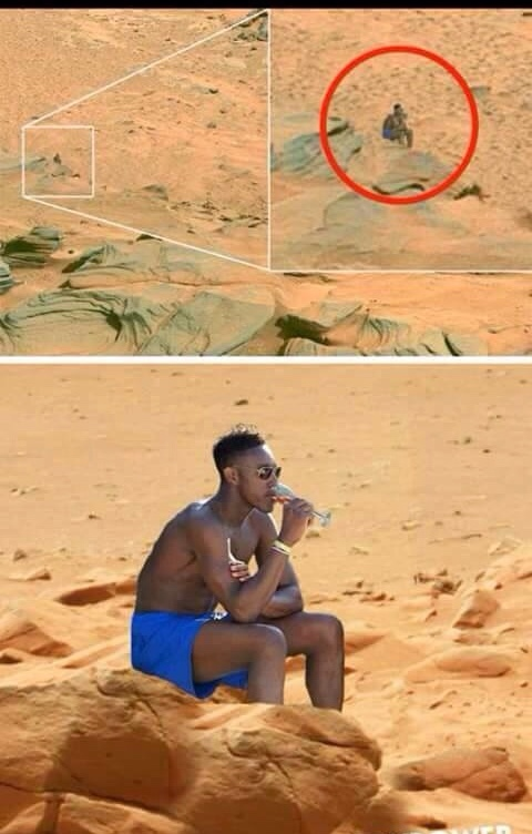 hay vida en Marte - meme