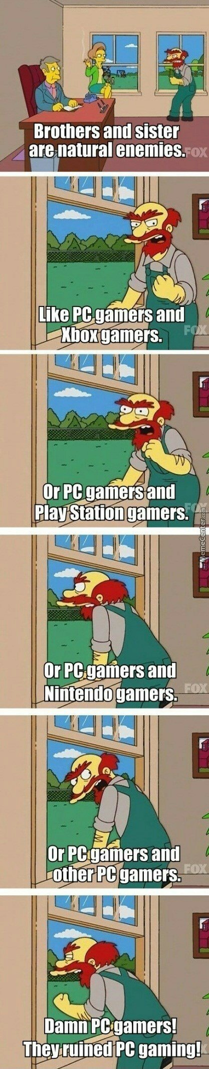 PC gamers hate everyone!!! - meme