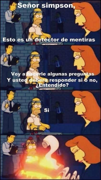 Ese Homero es todo un desmadre xD - meme