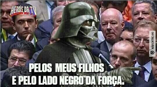 Venha para o lado negro da força - meme