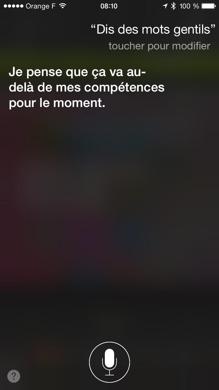 Parfois Siri il est intelligent comme très con - meme