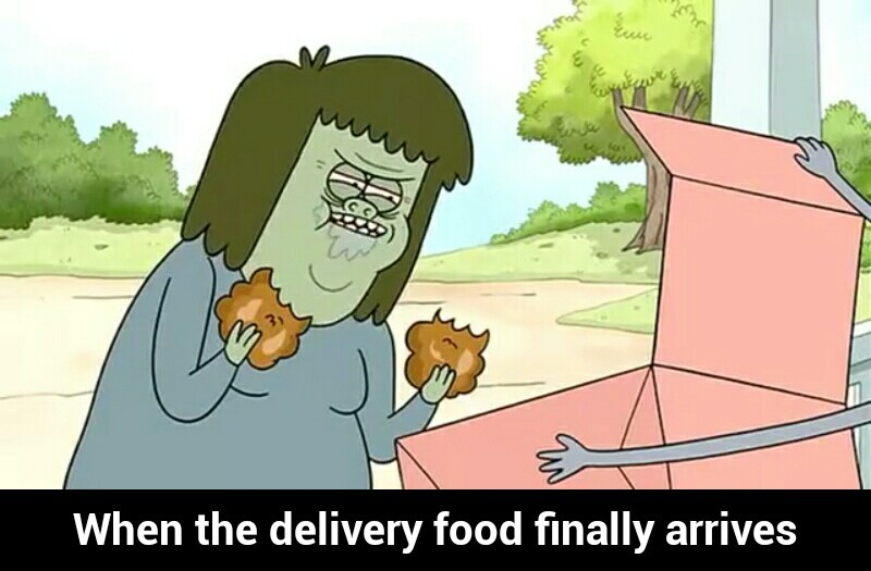 Title thoroughly enjoys delivery - meme