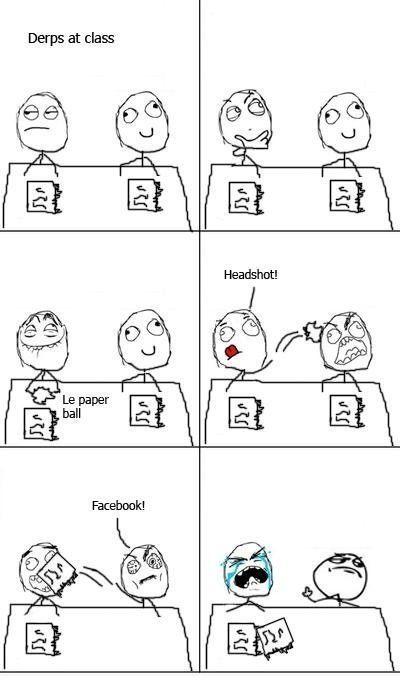 Headshot e Facebook - meme