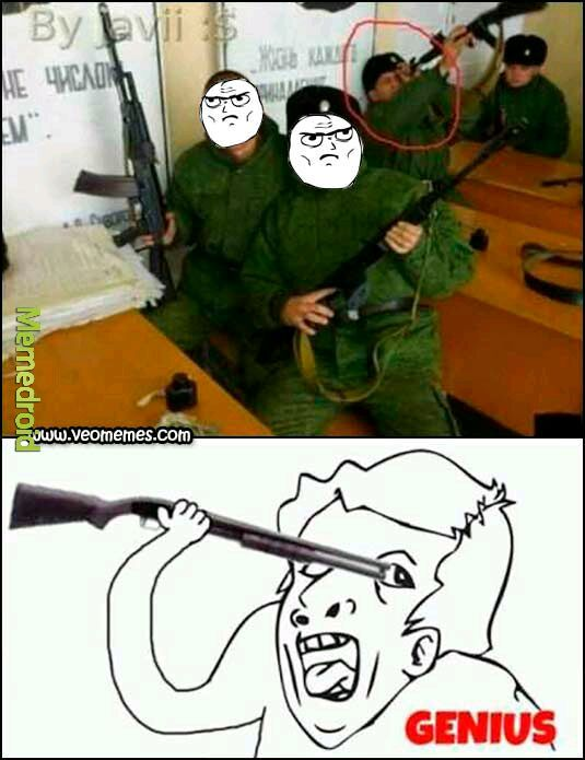 El soldado genius - meme