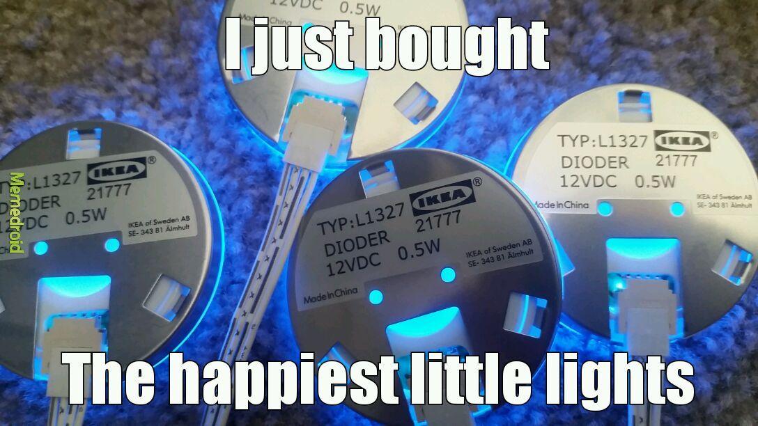 Happy little Ikea lights - meme