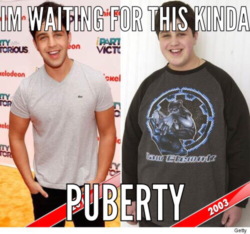 Puberty done right - meme