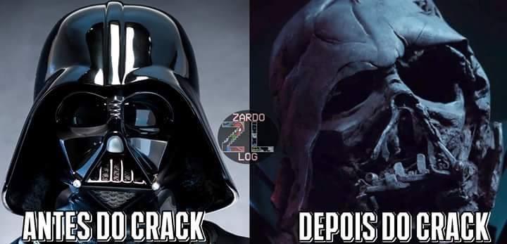 não usem crack ... E nem passem para o lado negro da força - meme