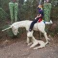Unicorn riding a unicorn