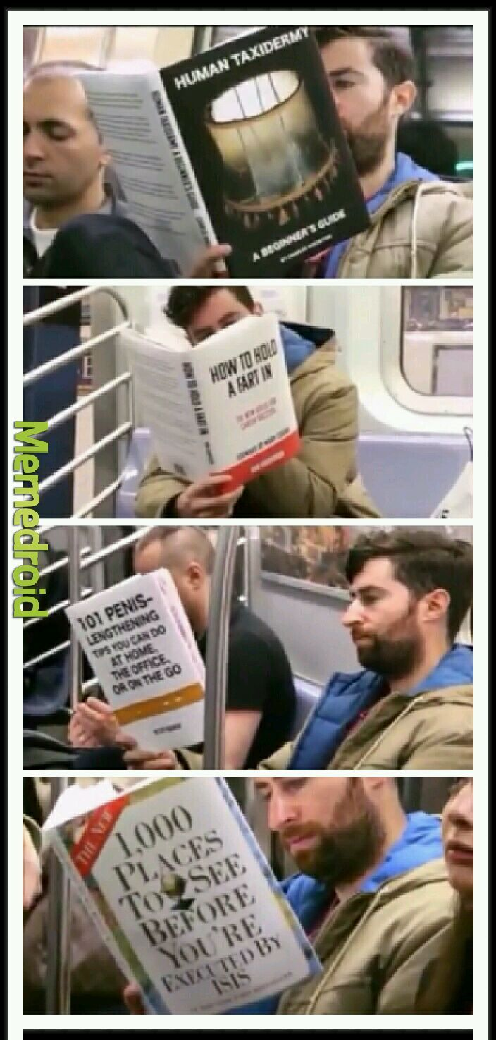 Books on a subway: part two - meme