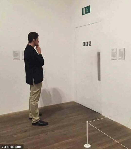 Analisando a arte moderna - meme